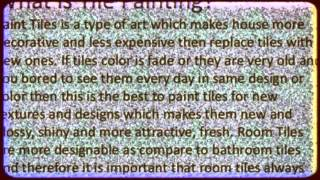 How To Paint Tiles