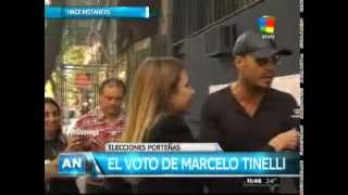 Marcelo Tinelli fue a votar con Lorenzo