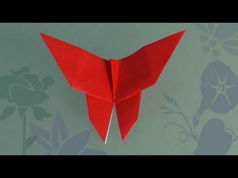 Como fazer uma Borboleta de papel origami
