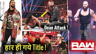 Dean ATTACKS Seth After TITLE CHANGE ! Raw Team REVEALED ! WWE Raw 5 November 2018 Highlights !