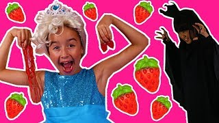 PRINCESSES IN REAL LIFE HAVE A GUMMY STRAWBERRY FEAST | Chocolate Shortcake Milkshake Magic Pranks