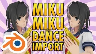 Open MMD/PMX in Blender (Miku Miku Dance 3D Model Format Import Plug-In Tutorial)