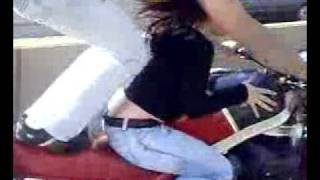 PAKISTANI GIRL ON BIKE IN ACTION