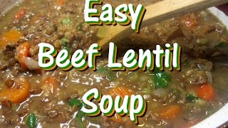 Easy Hearty Beef Lentil Soup Recipe - Powersouping Soup Recipe