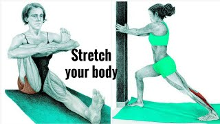 مدد عضلاتك  مع تمارين المرونة Stretch your body الكابتن/الوليد الكعيد