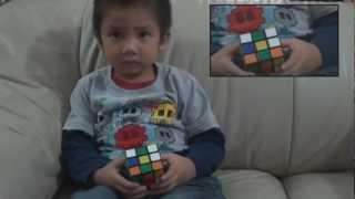 Chan Hong Lik de 4 anos resolver  cubo magico ( rubiks cube ) em 79 segundos