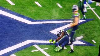 Ricardo Lockette hit hard by Jeff Heath