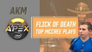 Flick of Death by aKm McCree - RG Titan vs Rogue   OGN Overwatch APEX 2016
