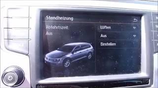 Volkswagen Standheizung Umschaltung für Sommer oder Winter = Lüften oder Heizen