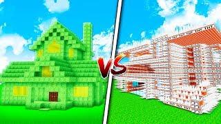 SLIME HOUSE VS TROLL HOUSE! - MINECRAFT