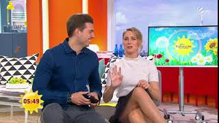 Alina Merkau - Sat1 Frühstücksfernsehen 27.09.2018