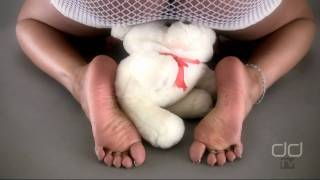 Darla TV - Darla Tramples A Teddy Bear With Her Sexy Ebony Feet