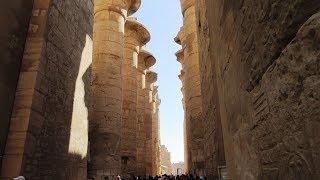 Rundgang Die Tempelanlagen von Karnak Tempel in Luxor säulenhalle obelisk skarabäus معبد الكرنك