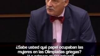 Diputado polaco humilla a las mujeres en su discurso