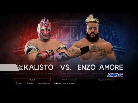 Xxx Mp4 WWE 2K17 PS3 Gameplay Kalisto VS Enzo Amore 60FPS FullHD 3gp Sex