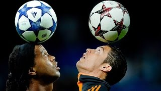 Cristiano Ronaldo vs Ronaldinho ● Freestyle ● Crazy Tricks