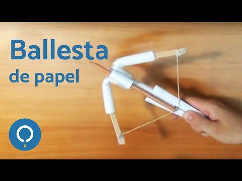 Cómo hacer una ballesta de papel