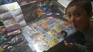 SURPRISE VIDEO! SOMEONE SENT US THEIR WHOLE COLLECTION OF POKEMON CARDS!! Suprise FF #35 Pt.2