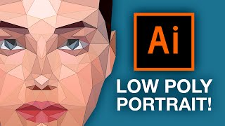 Illustrator Tutorial: Low Poly Portrait!