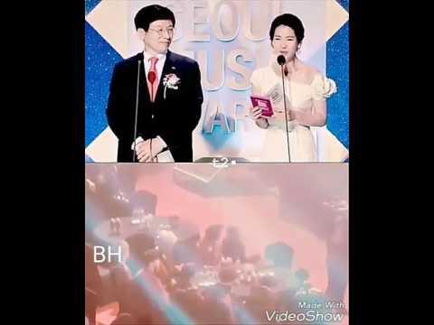 Baekhyun reaction taeyeon Win In Seoul Music Awards 2017
