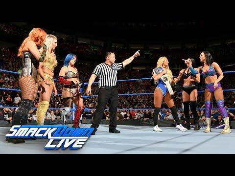 Xxx Mp4 Charlotte Flair Asuka Becky Lynch Vs Carmella The IIconics SmackDown LIVE May 1 2018 3gp Sex