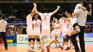 Historic victory of Iranian volleyball team to United States  in FIBV World Grand Champion Cup