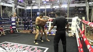 Stanislav from Russia fighting at Bangla stadium