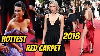 Most Glamorous Looks At Cannes Film Festival 2018 || Beautiful Actresst Walks  Red Carpets