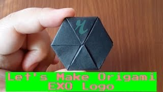 Make an Origami EXO / 엑소 Logo