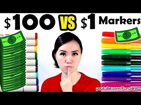 1 vs 100 MARKER ART CHALLENGE