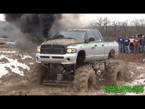 BIG MUD TRUCKS BATTLE DODGE VS CHEVY