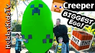Giant Minecraft CREEPER Surprise Egg by HobbyKidsTV
