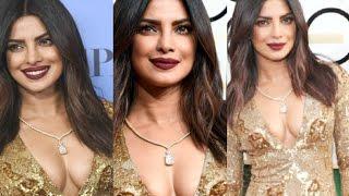 Priyanka Chopra Hot Cleavage Show At Golden Globes 2017