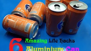 6 Amazing Life Hacks with Aluminium Can - 6 Soda Can Life Hacks