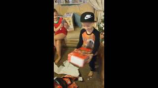 Best Present Reaction ever Nintendo Switch mind your ears as he screams!