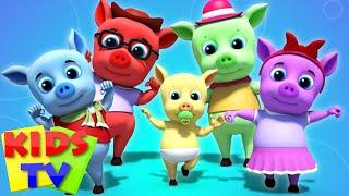 Pigs Finger Family Nursery Rhymes Kids Songs Videos For Children kids tv S03 EP66