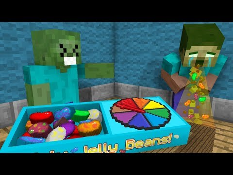 Monster School: JELLY BEANS CHALLENGE! (GROSS!) 😷 - Minecraft Animation