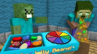 Monster School: JELLY BEANS CHALLENGE! (GROSS!) 😷 - Minecraft Animation