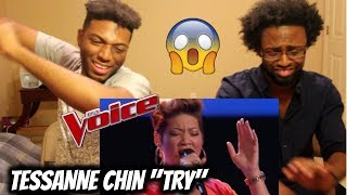 "The Voice - Tessanne Chin sings ""Try"" - Blind Audition (REACTION)"