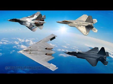Stealth Technology is a Scam - Tecnologia Stealth é uma farsa: B-2 F-22, F-35, T-50, X-2, J-20, J-31