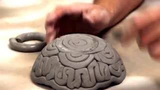 Texture Coil Bowl using a form