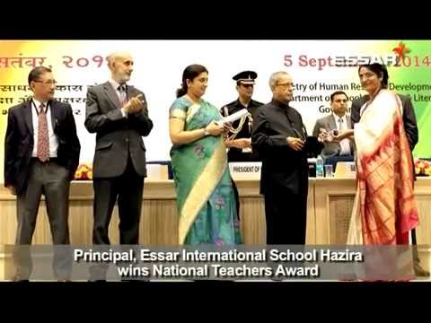 Mrs Sunita Matoo, Principal, Essar International School awarded by Hon'ble President of India