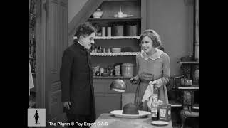 """Charlie Chaplin """"helping"""" in the kitchen - The Pilgrim"""