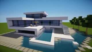 MINECRAFT: How To build A Modern House / Best modern House 2013 - 2014 ( hd ) Tutorial mansion