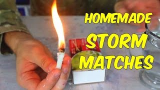 How to Make Storm Matches - Survival Tips #31