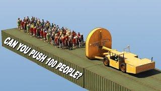 CAN YOU PUSH 100 PEOPLE IN GTA 5?