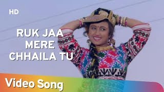 Ruk Jaa Mere Chhaila Tu (HD) | Ishq Mein Jeena Ishq Mein Marna (1994) | Popular Sadhana Sargam Hits