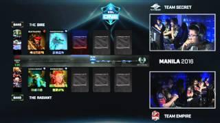 Dota 2 - Team Secret vs. Team Empire - Game 3 - ESL One Manila 2016 - Group B Decider Match