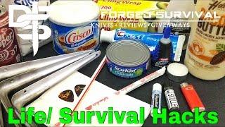 12 Life/ Survival Hacks Everyone Should Know!