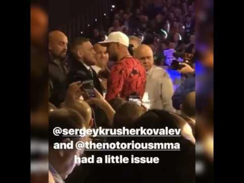 Radio host boxingwithak Gets Epic Vid Of Kovalev & McGregor Getting Into It esnews boxing